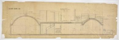Le Corbusierův byt s ateliérem - Podélný řez - foto: FLC