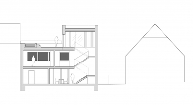 Rodinný dům ve Zbraslavi - Řez