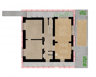 House in a Steel Corset - Půdorys přízemí - foto: Šépka architekti