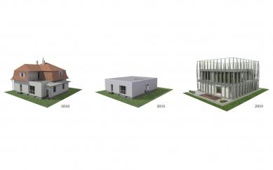 House in a Steel Corset - Schéma koncepce - foto: Šépka architekti