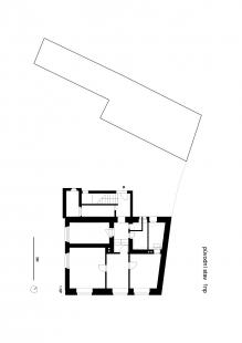 Dům v Ráji - Půdorys 1NP - původní stav
