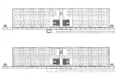 Přístavba fakulty architektury RWTH - První a druhé podlaží - foto: Plán autora