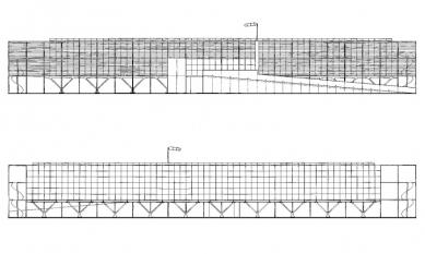 Přístavba fakulty architektury RWTH - Pohled jižní a severní - foto: Plán autora