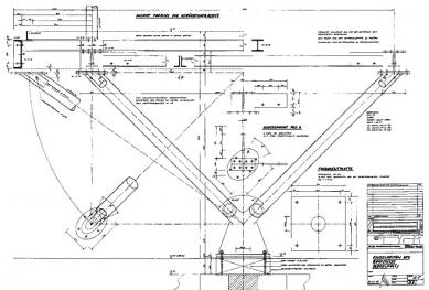 Přístavba fakulty architektury RWTH - Detaily podpěry - foto: Plán autora