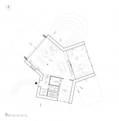 Rodinný dům v Hostivici - Půdorys přízemí - foto: She architect