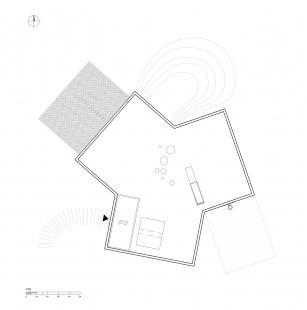 Rodinný dům v Hostivici - Výkres střechy - foto: She architect