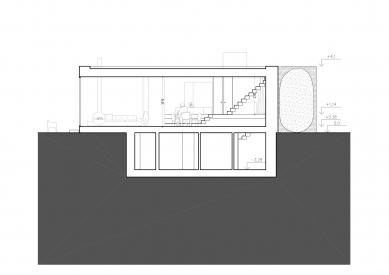 Rodinný dům v Hostivici - Řez b-b' - foto: She architect
