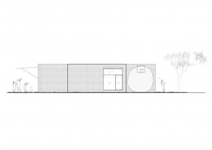 Rodinný dům v Hostivici - Jižní pohled - foto: She architect