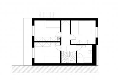 Rodinný dům Dolní Kounice - Půdorys patra - foto: NEW WORK