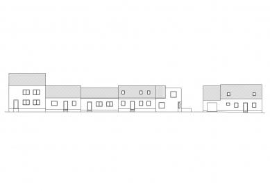 Rodinný dům Dolní Kounice - Dlouhý pohled z ulice - foto: NEW WORK