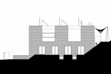 Vila v Troji - Východní pohled - foto: Šrámková architekti