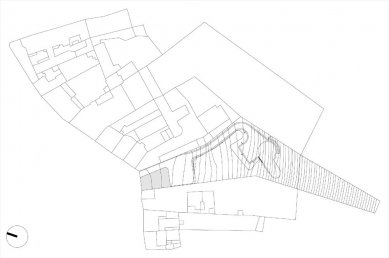 Dům s ateliérem na Kamenné - situace - foto: Fránek Architects
