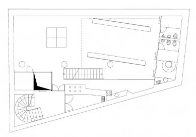 Dům s ateliérem na Kamenné - 2PP - foto: Fránek Architects