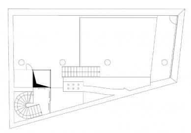 Dům s ateliérem na Kamenné - 1PP - foto: Fránek Architects