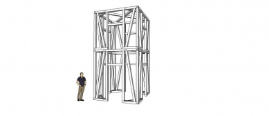 Zvonička na Betlémském náměstí - Skelet - foto: Ehl & Koumar architekti