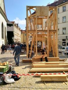 Zvonička na Betlémském náměstí - Z průběhu výstavby - foto: Ehl & Koumar architekti