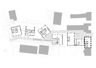 Housing Corso Pod Lipami - Půdorys 1.np - foto: Ehl & Koumar architekti