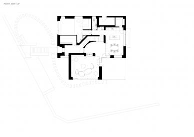 Reconstruction of the house, Hrusice - Půdorys návrhu 1.np - foto: atelier SAD