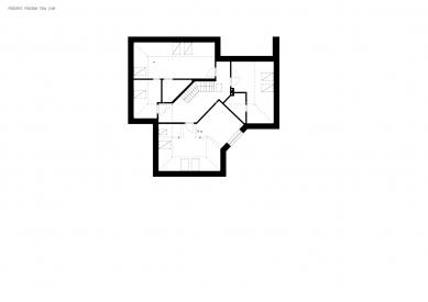 Reconstruction of the house, Hrusice - Půdorys původního stavu 2.np - foto: atelier SAD