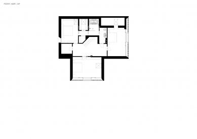 Reconstruction of the house, Hrusice - Půdorys návrhu 2.np - foto: atelier SAD