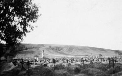 Vojenský cintorín v Majeri - Fotografie z roku 1929 - foto: reprofoto Vlado Kollár