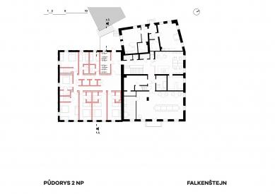 Expanze Pivovaru Falkenštejn - Půdorys patra - foto: Atelier Hoffman