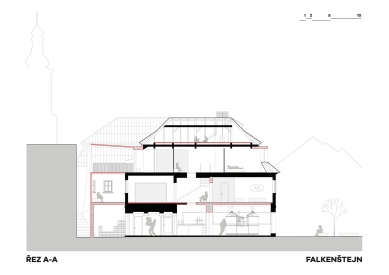 Expanze Pivovaru Falkenštejn - Řez - foto: Atelier Hoffman