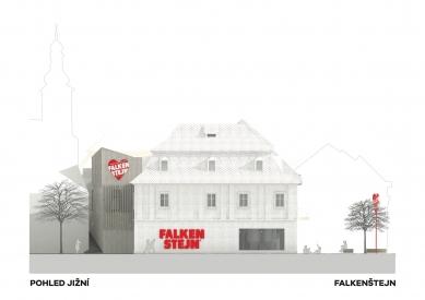 Expanze Pivovaru Falkenštejn - Jižní pohled - foto: Atelier Hoffman