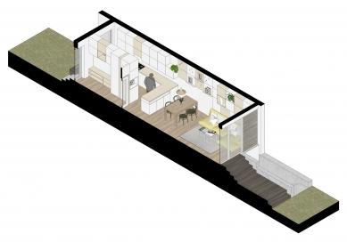 Řadový dům Solidarita - Axonometrie