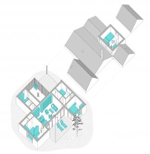 Letní sídlo - Axonometrie