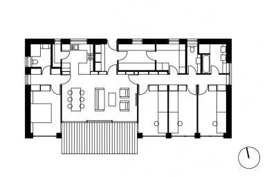 Rodinný dům vBrandýse - Půdorys přízemí - foto: Stempel & Tesar architekti