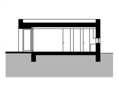 Rodinný dům vBrandýse - Příčný řez - foto: Stempel & Tesar architekti