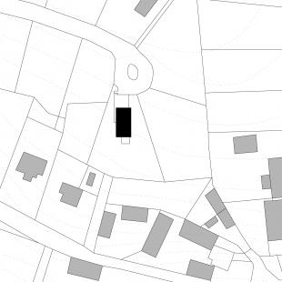 Dům se šikmou střechou - Situace - foto: Stempel & Tesar architekti