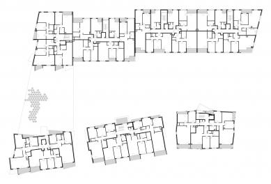 Bytový projekt Čerešne - Půdorys 3.np - foto: Šebo Lichý architekti