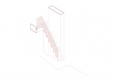 Znojemské léto - Axonometrie schodiště - foto: ORA