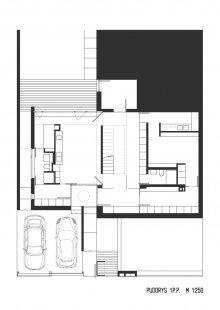 Rodinný dům Bílá Hora - Půdorys 1.pp - foto: lennox architekti