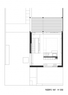 Rodinný dům Bílá Hora - Půdorys 1.np - foto: lennox architekti
