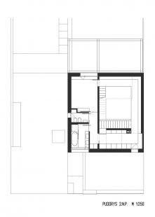 Rodinný dům Bílá Hora - Půdorys 2.np - foto: lennox architekti