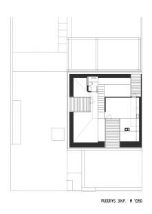 Rodinný dům Bílá Hora - Půdorys 3.np - foto: lennox architekti