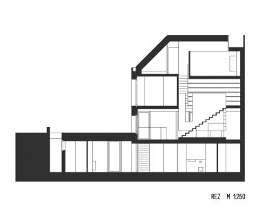 Rodinný dům Bílá Hora - Řez - foto: lennox architekti