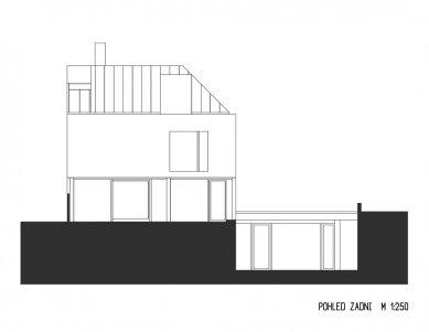 Rodinný dům Bílá Hora - Zadní pohled - foto: lennox architekti