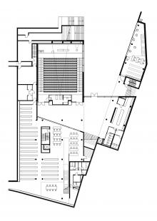 Univerzitní knihovna ve Výmaru - Půdorys suterénu - foto: meck architekten