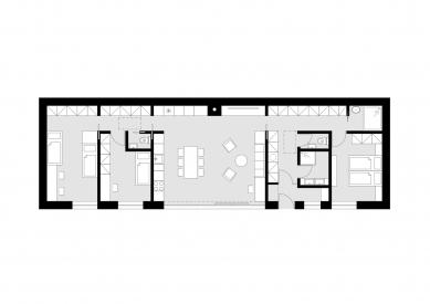 Rodinný dům v Lelekovicích - Půdorys přízemí - foto: studio AEIOU