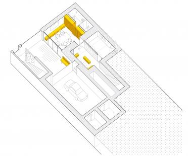 Pražská kancelář - Axonometrie