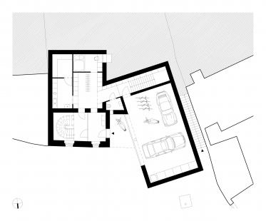 Rodinný dům v Jinonicích - Půdorys 1NP