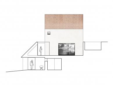 Rodinný dům v Jinonicích - Řez