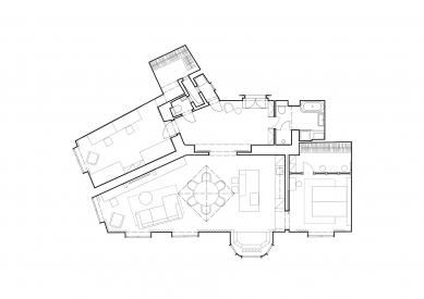 Rekonstrukce bytu na Vinohradech - Půdorys po rekonstrukci - foto: Archport