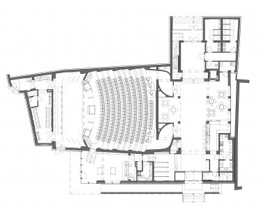 Rekonstrukce kina Hustopeče - Půdorys 1NP