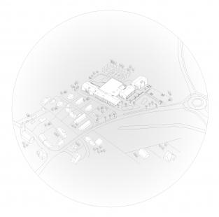 Základní škola Amos pro Psáry a Dolní Jirčany - Axonometrie