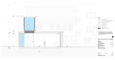 Galerie Pelechov - přístavba brusírny - Řez - foto: Jiran a partner architekti